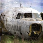 abandoned airplane old grunge