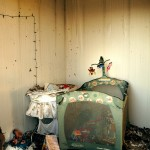 abandoned house baby room fire damage