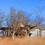 old abandoned house tornado damage