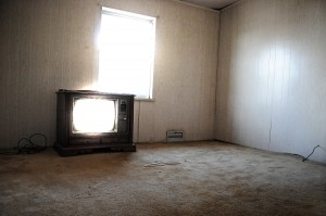 empty house old tube tv light poltergeist